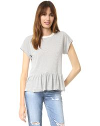 The Great - Multicolor The Ruffle Tee - Lyst