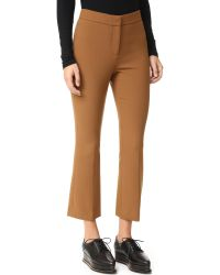 Theory | Brown Erstina Cropped Flare Pants | Lyst