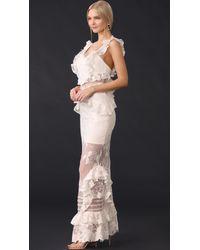 Three Floor - Multicolor Bouquet Lace Dress - Lyst