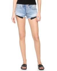 3x1 - Blue Wm5 Cutoff Shorts - Lyst