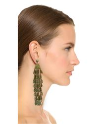 Tory Burch - Metallic Oxidized Metal Chandelier Earrings - Lyst