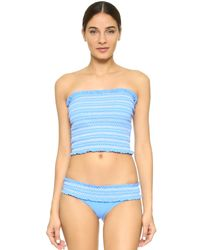 Tory Burch - Natural Costa Swim Tube Top - Lyst