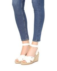 Tory Burch - White Bima Wedge Espadrille Sandals - Lyst