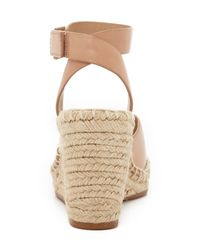 Tory Burch - Natural Bima Wedge Espadrille Sandals - Lyst