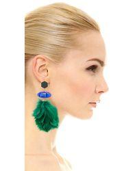 Tory Burch - Green Tropical Creature Drop Earrings - Lyst