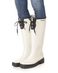 Tretorn - White Lacey Tall Rain Boots - Lyst