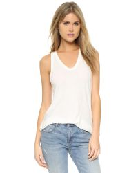 T By Alexander Wang - White Slubbed Classic Tank - Lyst