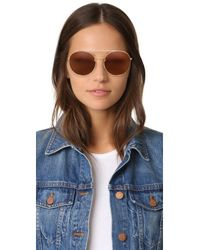 Valentino - Brown Rock Loop Round Sunglasses - Lyst
