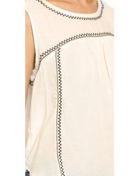 Velvet - Natural Asera Embroidered Blouse - Lyst