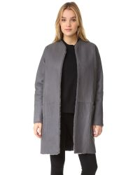 VINCE | Multicolor Shearling Reversible Car Coat | Lyst