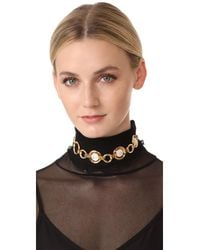 Vita Fede - Metallic Moneta Single Stone Choker Necklace - Lyst