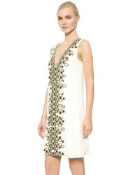 Wes Gordon | White Embroidered Shift Dress | Lyst