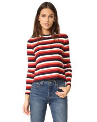 Whistles   Red Multi Stripe Sweater   Lyst