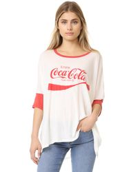 Wildfox | White Coca Cola Morning T-shirt | Lyst