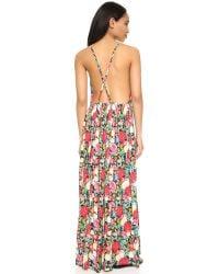 Wildfox - Multicolor Floral Maxi Dress - Lyst