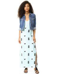 Wildfox - Blue Arrow Button Side Dress - Lyst
