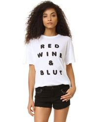 Wildfox - Multicolor Red Wine And Blue Tee - Lyst