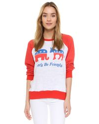 Wildfox - Red Friendship Sweatshirt - Lyst