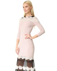 Yigal Azrouël - Multicolor Lace Dress - Lyst