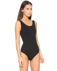 Yummie By Heather Thomson | Black Ruby Scoop Neck Bodysuit | Lyst