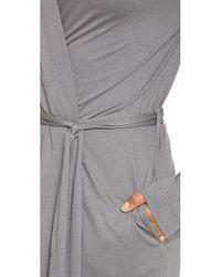 Yummie By Heather Thomson | Gray Short Robe | Lyst