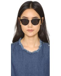 Saint Laurent - Black Mineral Glass Sunglasses - Lyst