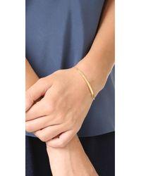 Jennifer Zeuner - Metallic Horizontal Bar Bracelet With Diamond - Lyst