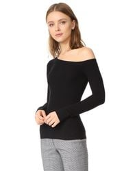 Getting Back to Square One | Black One Shoulder Pullover | Lyst