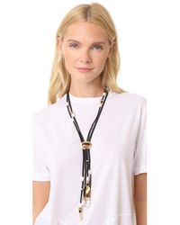 Lizzie Fortunato - Metallic Hemingway Navy Tassel Necklace - Lyst