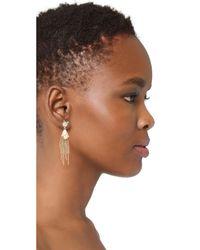 Alexis Bittar   Metallic Dangling Tassel Earrings   Lyst