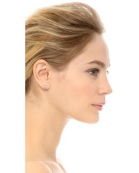 EF Collection - Metallic Diamond Stone Slice Stud Earrings - Lyst