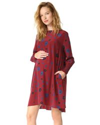 HATCH | Red Ella Smocked Dress | Lyst