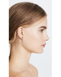 Rebecca Minkoff - Metallic Stacked Triangles Chained Stud Earrings - Lyst