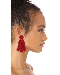 Sachin & Babi - Red Trinity Clip On Earrings - Lyst