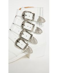 Toga Pulla - White Buckled Booties - Lyst