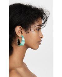 Alexis Bittar - Green Wide Graduated Medium Hoop Lucite Earring - Lyst