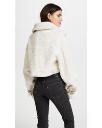 M I S B H V - White Inside Out Shearling Jacket - Lyst