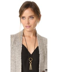 Madewell - Metallic Double Hammered Ring Necklace - Lyst