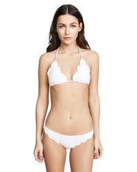 Marysia Swim - White Broadway Scallop Bikini Top - Lyst