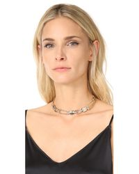 Alexis Bittar - Metallic Link Choker Necklace - Lyst