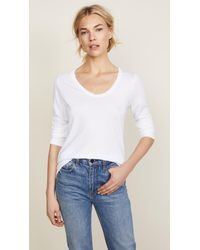 Splendid - White Very Light Jersey Scoop Neck Tee - Lyst