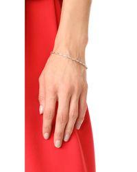 Adina Reyter - Metallic 14k Gold Pave Triangle Tennis Bracelet - Lyst