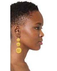 Kenneth Jay Lane - Yellow Triple Tier Drop Earrings - Lyst