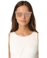 Linda Farrow - Pink Classic Stud Sunglasses - Lyst