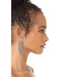 Kenneth Jay Lane - Multicolor Gunmetal Waterfall Earrings - Lyst