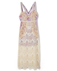 Free People - White Still Life Midi Dress - Lyst