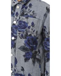 J Brand - Blue Reversible Cyra Oversize Jacket - Lyst