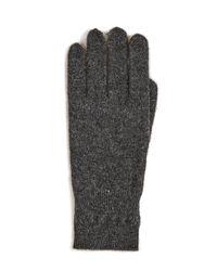 White + Warren - Gray Cashmere Cross Stitch Gloves - Lyst