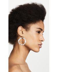 Alexis Bittar - Metallic Freshwater Cultured Pearl Hoop Wire Earrings - Lyst