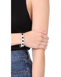 Aaryah - Metallic Aaliya Five Stone Cuff Bracelet - Lyst